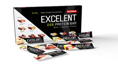 Экселент Протеин Бар в подарочной упаковке/Excelent Protein Bar set Nutrend, батончики 9 х 85г разных вкусов