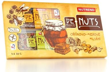 ДеНатс в подарочной упаковке/DeNuts  Nutrend, батончики разных вкусов 4 х 35г