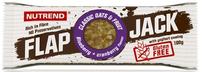 ФлэпДжек без глютена/FlapJack Gluten Free Nutrend, батончик 100г